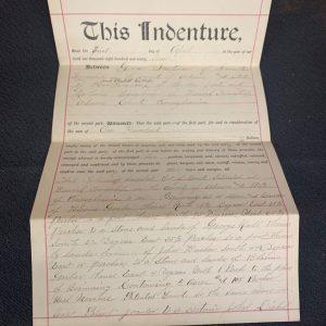 Historical Documents Antique Land Deed 1897 Berwick Township, Adams County Pennsylvania