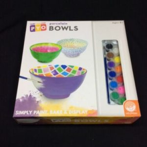 ARTS & CRAFTS Paint Your Own Porcelain Bowls By MindWare [tag]