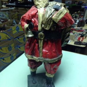 "Decorations 20"" Santa Paper Mache by Elaborado A. Mano, hand made – mexico [tag]"