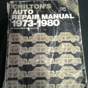 AUTOMOBILE PARTS & ACCESORRIES CHILTON'S AUTO REPAIR MANUAL 1973-1980 FOR EARLIER MODEL AMERICAN CARS 7209 [tag]