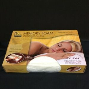 Other Home Innovations Memory Foam Contour Pillow Hypo-Allergenic Removable Cover NIB [tag]