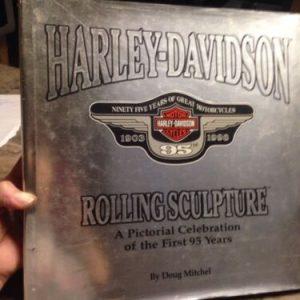 HARLEY DAVIDSON . Harley-Davidson 95 Anniversary Rolling Sculpture Book A Pictorial Celebration