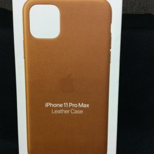 Cell Phone/ Ipad Accessories Apple iPhone 11 Pro Max Leather Soft Case~ Saddle Brown~ NEW (open box)