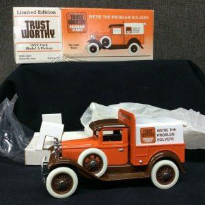 Die Cast ERTL Trust Worthy 1929 Ford Model A Pickup Die cast Bank~#1013 Ltd Edition~ NEW!