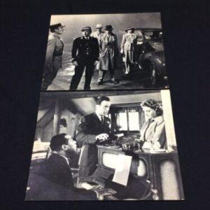 PHOTOGRAPHS 2 Casablanca Humphrey Bogart Ingrid Claude photo prints 8×10 Black & White