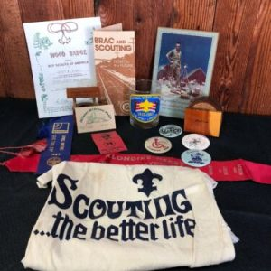 Boy Scouts Boy Scouts of America – Lot of Memorabilia, including plaque of Scoutmaster.