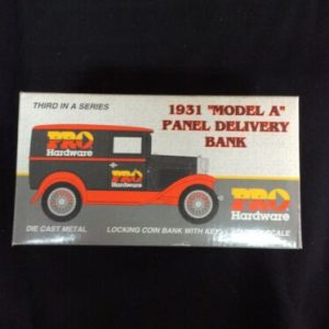Die Cast & Cast Iron Pro Hardware 1931 Ford Model A Panel Delivery  Bank, Liberty Classics NOS #02622