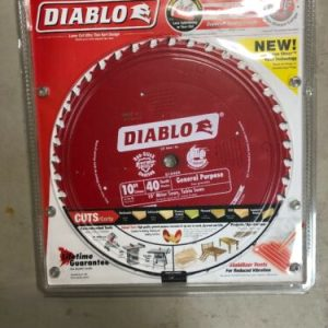 """Hand Tools Diablo Saw Blade 10"""" Dia 40 Teeth – NEW [tag]"""