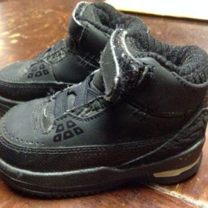SHOES Infant Toddler High Top NIKE  Air Jordans Black Size 4C