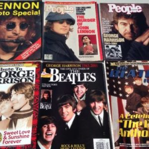 Magazines Lot Of 6 Beatles, John Lennon, George Harrison Collectors magazines