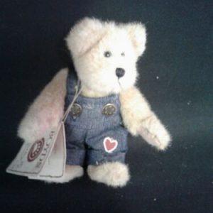 Boyds Bear Boyds Bear Jimmy Bearheart Best Dressed Series Head Bean Collection Overalls