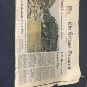 Historical Documents The Tribune Democrat From August 19, 1977 Flood of '77