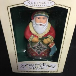 Hallmark Hallmark 2004 Santas From Around the World United States of America USA Ornament [tag]