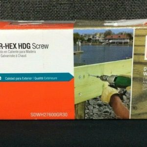 Misc Hardware and Part STRONG-DRIVE SDWH TIMBER-HEX HDG SCREW 6″ (30) GALVANIZED WASHER HEAD